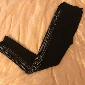 Buffalo black leggings w silver studs XL